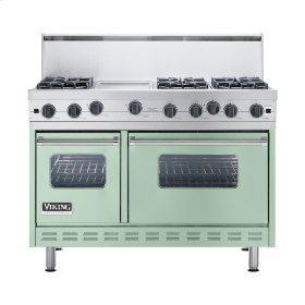 """Sage 48"""" Open Burner Commercial Depth Range - VGRC (48"""" wide, six burners 12"""" wide griddle/simmer plate)"""