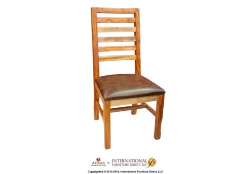 Ladder back chair w/upholstered seat