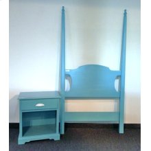 """#470T Pencil Post Bed Twin 86"""" Overall"""