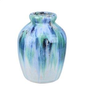 """Ceramic Jug Vase, 10.5"""", Multi"""
