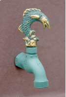 Verdi French Country Hose Bibb Faucets Brass / Leaping Fish Product Image