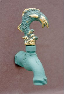 Verdi French Country Hose Bibb Faucets Brass / Leaping Fish