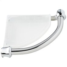 Chrome Traditional Corner Shelf with Assist Bar