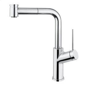 Pull-out dual stream mode kitchen faucet