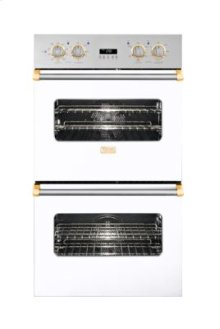 """30"""" Double Custom Electric Select Oven, Brass Accent"""