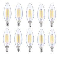 LED E12 CANDELABRA, BLUNT TIP, 3000K, 300, CRI80, ES, UL, 6W, 40W EQUIVALENT, 15000HRS, LM480, DIMMABLE, 2 YEARS WARRANTY, INPUT VOLTAGE 120V
