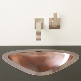 Luna Self-rimming or Undermount Sink Golden Bronze