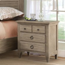 Myra - Three Drawer Nightstand - Natural Finish