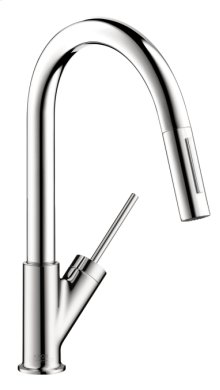 Chrome Starck 2-Spray Prep Kitchen Faucet, Pull-Down