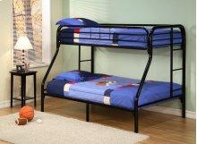 Twin/full Metal Bunk Bed (bk)
