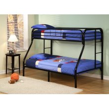 Twin/full Metal Bunk Bed (bk)