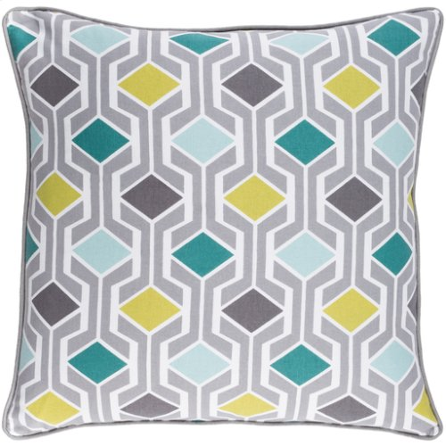 "Inga INGA-7033 18"" x 18"" Pillow Shell with Polyester Insert"