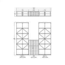 Apex 7' Cedar Wine Rack Kit (B/D7.1, IBH, B/D7.1) - READY TO SHIP