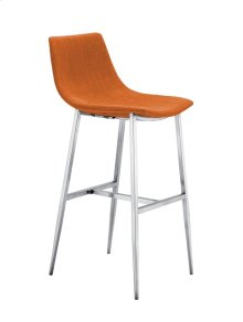Orange Fabric Barstool