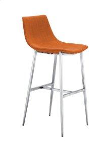 Orange Fabric Barstool