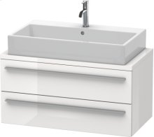 X-large Vanity Unit For Console Compact, White High Gloss Lacquer