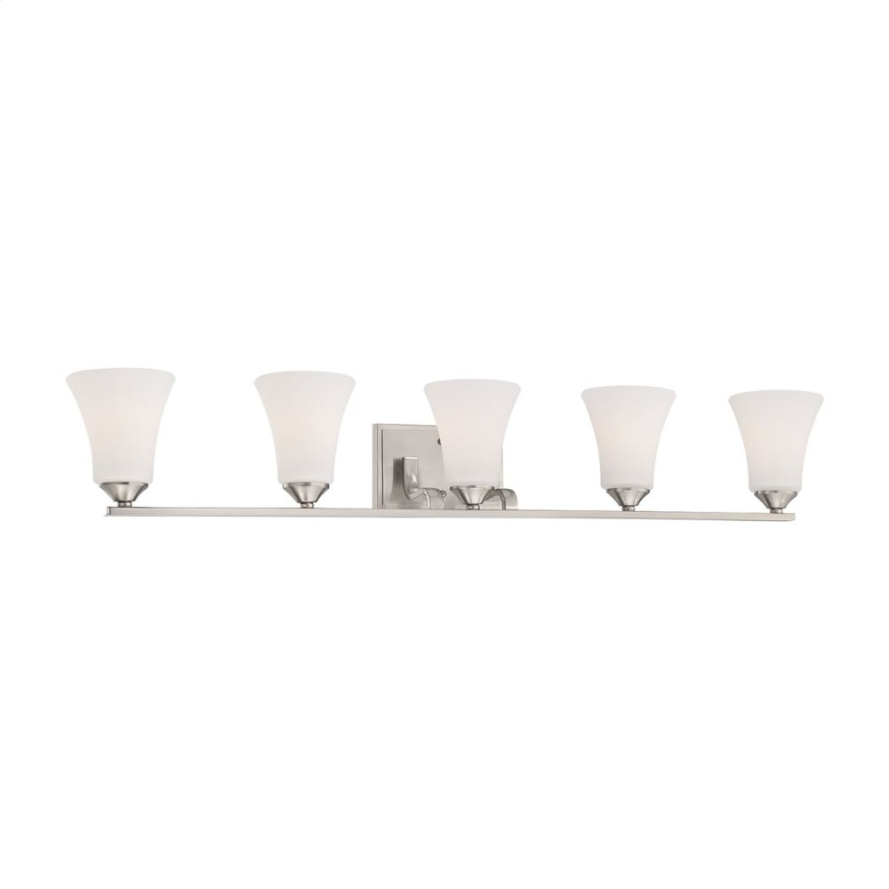 Treme 5-Light Wall Lamp in Brushed Nickel