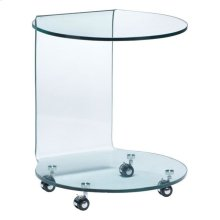 Mission Side Table Clear Glass