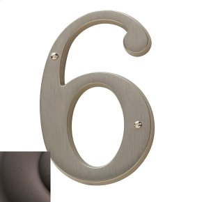 Distressed Venetian Bronze House Number - 6