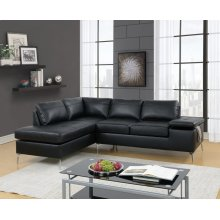 F6519 / Cat.19.p27- 2PCS SECTIONAL BLACK