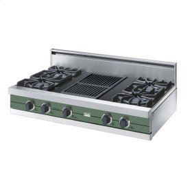 "Mint Julep 42"" Open Burner Rangetop - VGRT (42"" wide, four burners 12"" wide char-grill)"