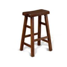 """30""""H Savannah Saddle Seat Stool w/ Wood Seat"""