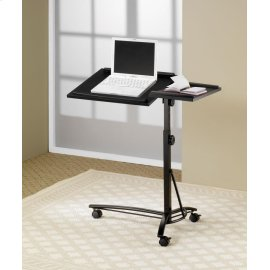 Transitional Black Laptop Stand