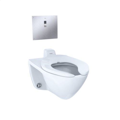 Commercial Flushometer High Efficiency Toilet, 1.28 GPF, Elongated Bowl, Back Inlet Spud - Cotton