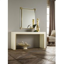 Minimal Console, Painted White Finish With Solid Brass Detailing.