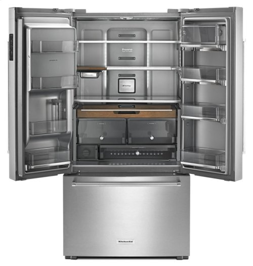 "23.8 cu. ft. 36"" Counter-Depth French Door Platinum Interior Refrigerator - Stainless Steel **OPEN BOX** West Location"