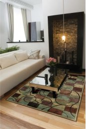 EXPRESSIONS XP01 BRN RECTANGLE RUG 27'' x 18''