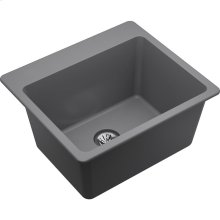 "Elkay Quartz Classic 25"" x 22"" x 11-13/16"", Drop-in Laundry Sink with Perfect Drain, Greystone"