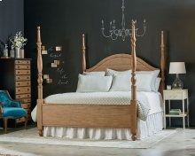 Primitive Bedroom With Camelback Poster Bed
