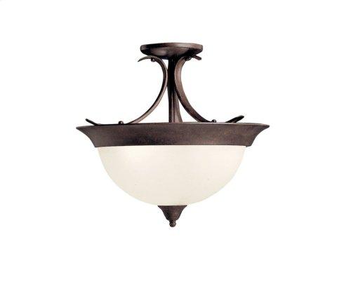 Dover 3 Light Semi Flush Tannery Bronze
