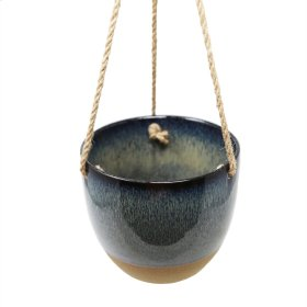 Blue Hanging Bowl Planter
