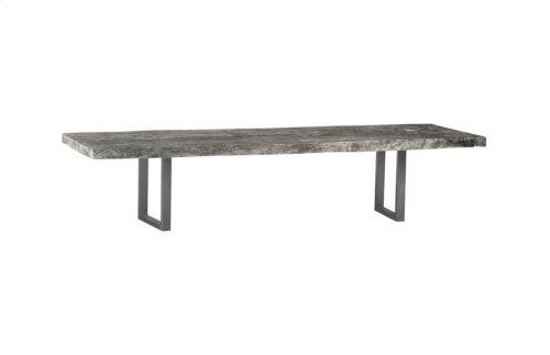 Live Edge Dining Table, Chamcha Wood, Grey Stone