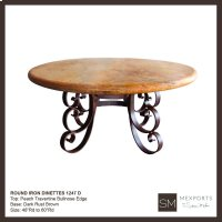 Round Iron Dining Table Product Image