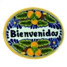 Small 'Bienvenidos' Ceramic Plaque in Peaches Product Image