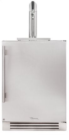 24 Inch Stainless Solid Door Beverage Dispenser - Left Hinge Stainless Solid