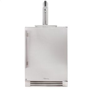 True Residential24 Inch Stainless Solid Door Beverage Dispenser - Left Hinge Stainless Solid