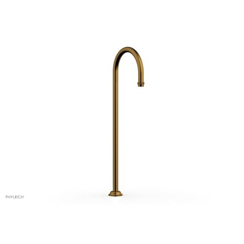 BEADED Floor Mount Spout 207-44 - French Brass
