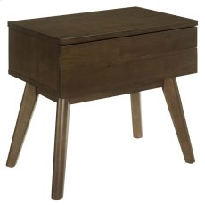 Everly Wood Nightstand in Walnut Product Image
