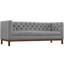 Panache Upholstered Fabric Sofa in Expectation Gray