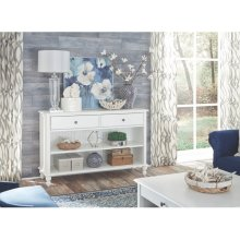 Console Table in Beach White