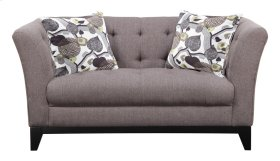 Loveseat Tobacco W/2 Pillows Leaf Print