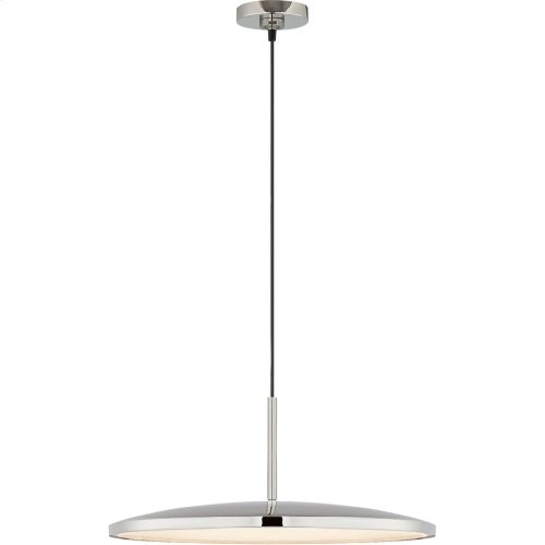 Visual Comfort PB5000PN Peter Bristol Dot LED 14 inch Polished Nickel Pendant Ceiling Light