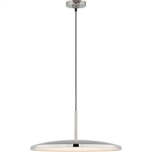 Visual Comfort PB5000PN Peter Bristol Dot LED 14 inch Polished Nickel Pendant Ceiling Light