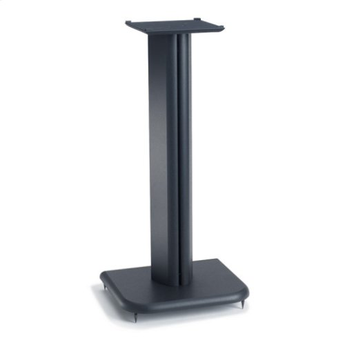 Black Basic Series 24 inches tall for medium bookshelf speakers
