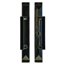 "Mack Patio Sliding Door Set - 1 3/4"" x 13"" Silicon Bronze Brushed"