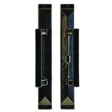 "Mack Patio Sliding Door Set - 1 3/4"" x 13"" Silicon Bronze Brushed"